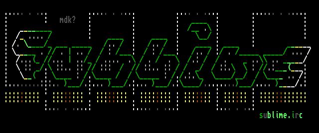 Sublime.irc - Logo by mdkathon