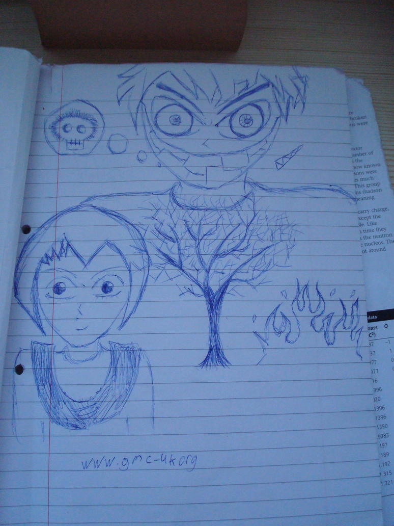 Doodle in lecture by phatmansam