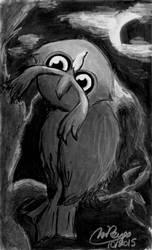 Inktober #11: Spooky Noctowl