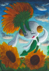 Floette and Sunflowers by studio-m4r1p0s4