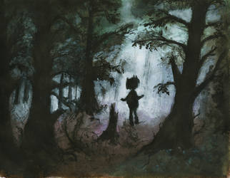 Foggy woods by studio-m4r1p0s4