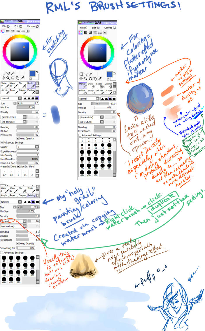 Sai Brush Settings by Ravenmoonlace on DeviantArt