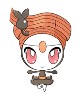 Meloetta -Pirouette Form- pokedoll label vector by Rulue2019