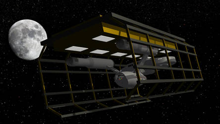 USS Constellation in drydock