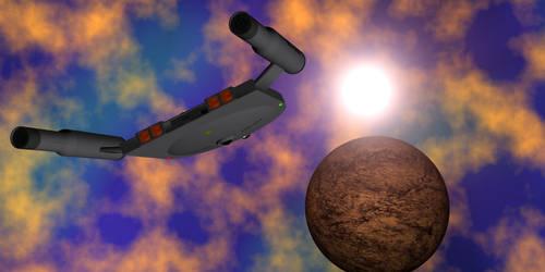 Vixen Soars Through Debra's Nebula. by OpenMawProductions