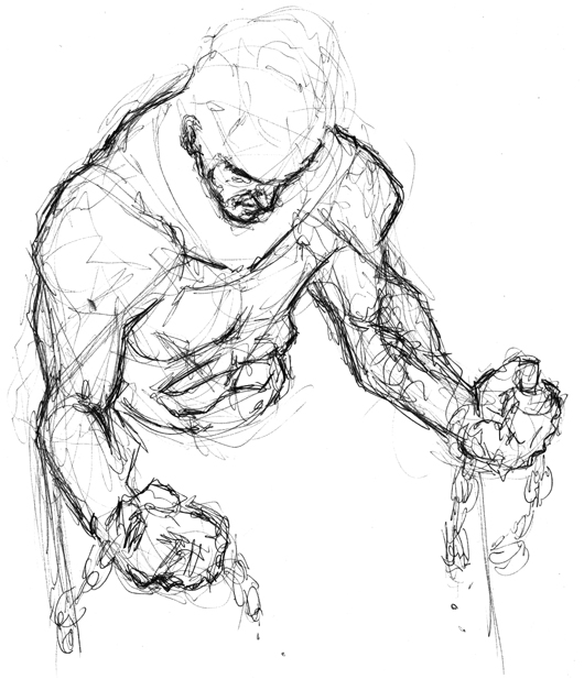 Broken Chain Pencil Drawing
