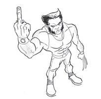 Wolverine is Rude by GavinMichelli