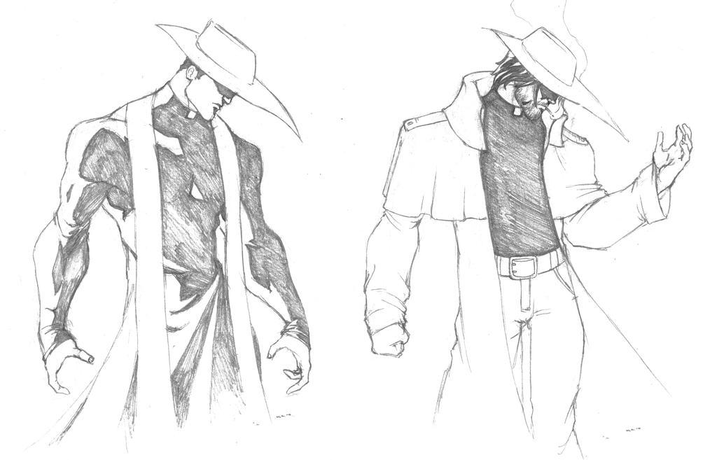 Priest Demon Hunter Concepts by GavinMichelli