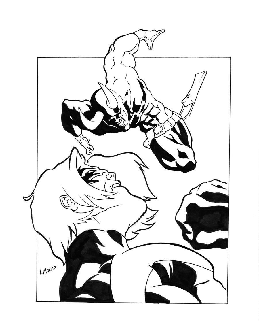 Nightwing vs daredevil by gavinmichelli