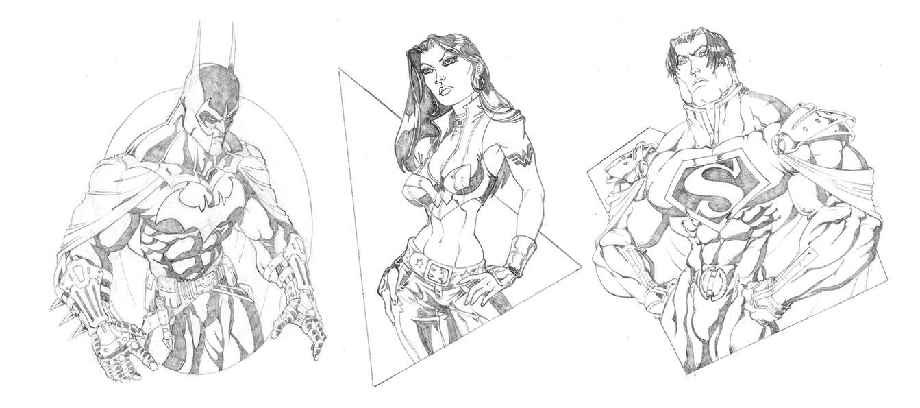Ultimate JLA: The Big Three by GavinMichelli