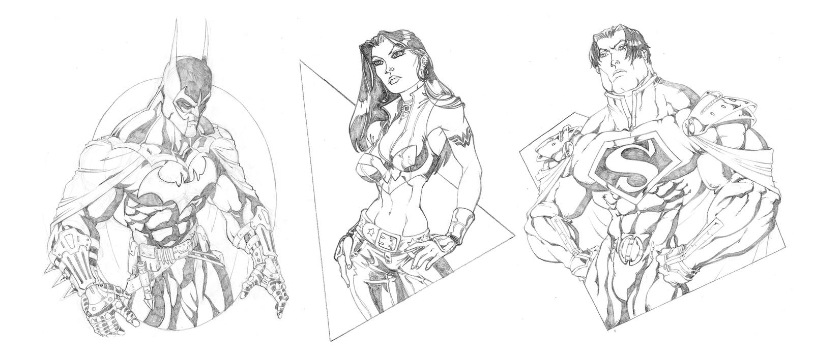 Ultimate JLA: The Big Three by GavinMichelli