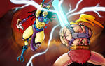 He-man vs Skeletress by Andrew Henry