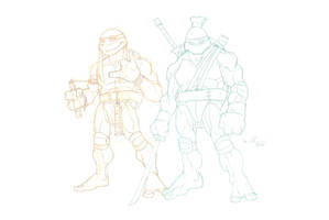 Leo and Mikey by GavinMichelli
