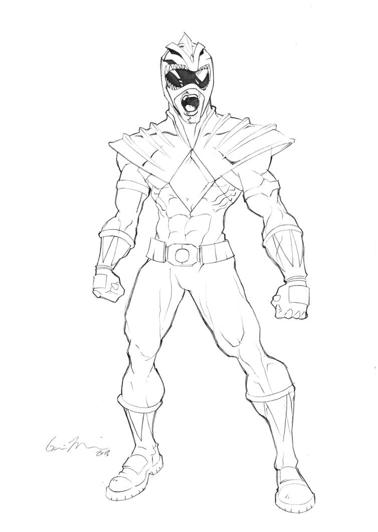 Green power ranger free coloring pages for Mighty morphin power rangers coloring pages