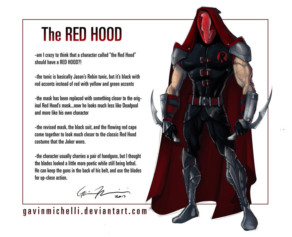 The Red Hood Redesigned By GavinMichelli On DeviantArt