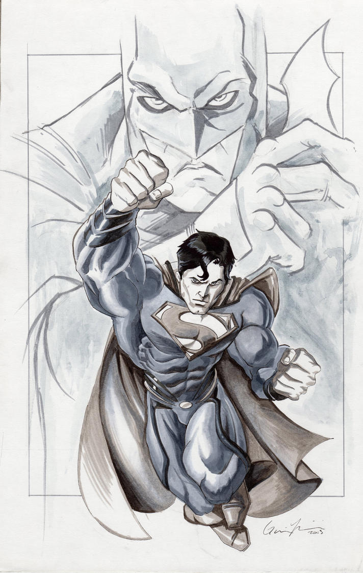 Batman VS Superman Marker Sketch By GavinMichelli On DeviantArt