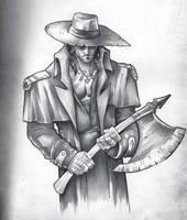 Demon Hunter Marker Drawing by GavinMichelli