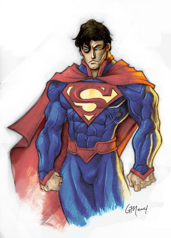 New 52 Superman in color by GavinMichelli