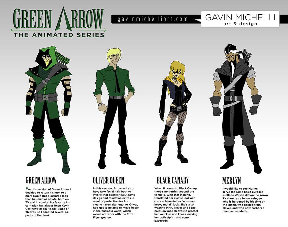 Green Arrow Animated Designs by GavinMichelli on DeviantArt