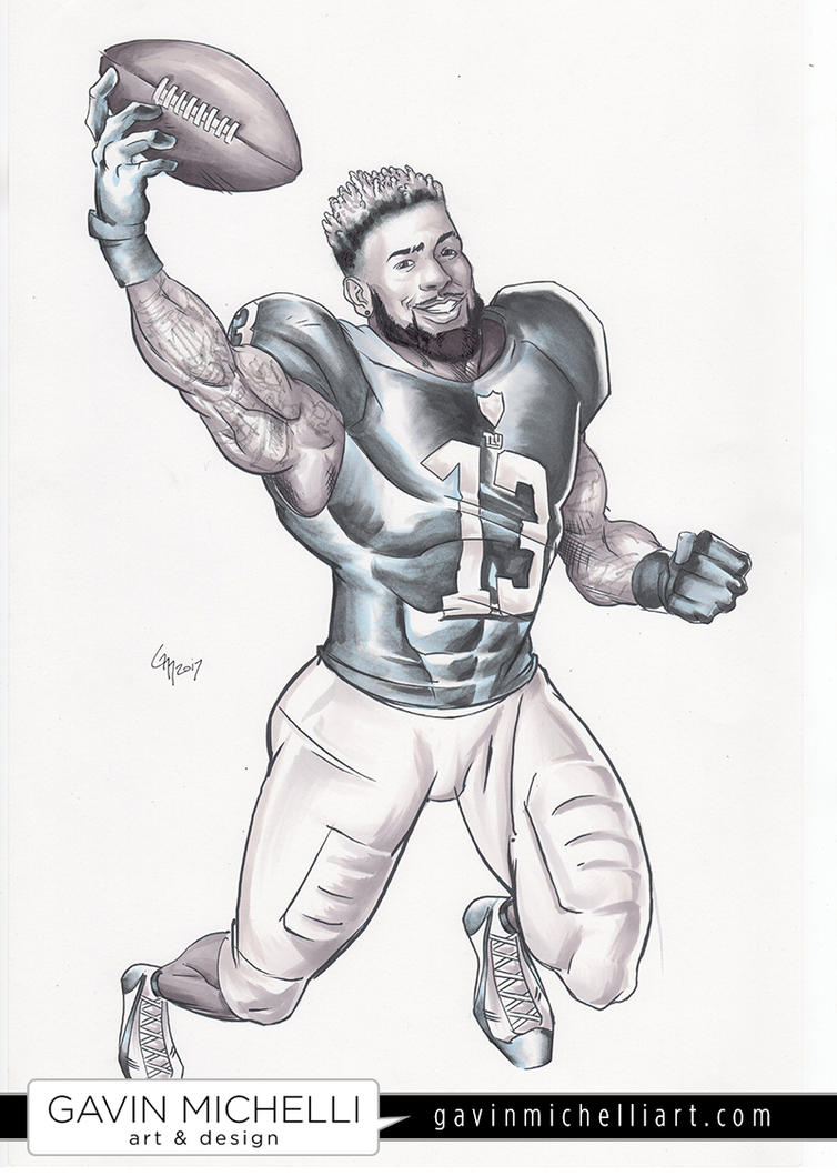 Odell beckham jr coloring pages coloring pages for Odell beckham jr coloring page