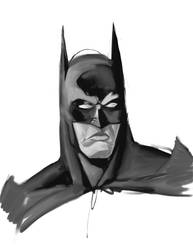Batman Oil Sketch