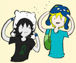 Finn and Nep Swappin' Hats