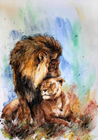 lions by ElenaShved