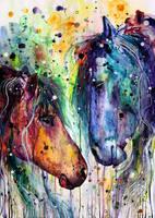 horses by ElenaShved
