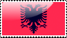 Albanian Flag Stamp by xxstamps