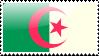 Algerian Flag Stamp by xxstamps