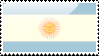 Argentine Flag Stamp by xxstamps
