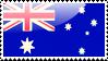 Australian Flag Stamp by xxstamps
