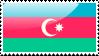 Azerbaijani Flag Stamp by xxstamps