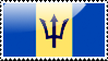 Flag of Barbados Stamp by xxstamps