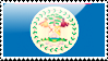 Belizean Flag Stamp by xxstamps