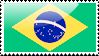 Brazilian Flag Stamp by xxstamps