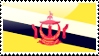 Bruneian Flag Stamp by xxstamps