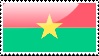 Burkinabe Flag Stamp by xxstamps