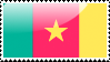 Cameroonian Flag Stamp by xxstamps