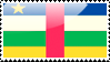 Central African Flag Stamp by xxstamps