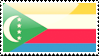 Comorian Flag Stamp by xxstamps