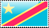 DR Congo Flag Stamp by xxstamps