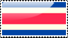 Costa Rican Flag Stamp by xxstamps