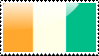 Ivoirian Flag Stamp by xxstamps