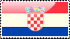 Croatian Flag Stamp by xxstamps