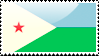 Djiboutian Flag Stamp by xxstamps