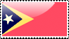 East Timorese Flag Stamp by xxstamps