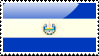 Salvadoran Flag Stamp by xxstamps