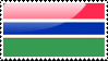 Gambian Flag Stamp by xxstamps
