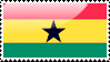Ghanaian Flag Stamp by xxstamps